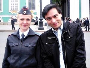 Con policia en san Peter